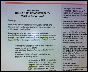 IHF 300x244 Associated Press Covers Ex Gay Issue; IHF Newsletter Announces The End of Homosexuality