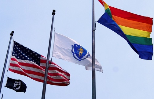 bostonflag NOMs Jennifer Thieme Believes Pride Flag Is A Corruption Of The American Flag