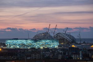 sochistadium 300x200 Russia Harassing And Silencing Journalists Who Have Criticized Sochi Games Preparations