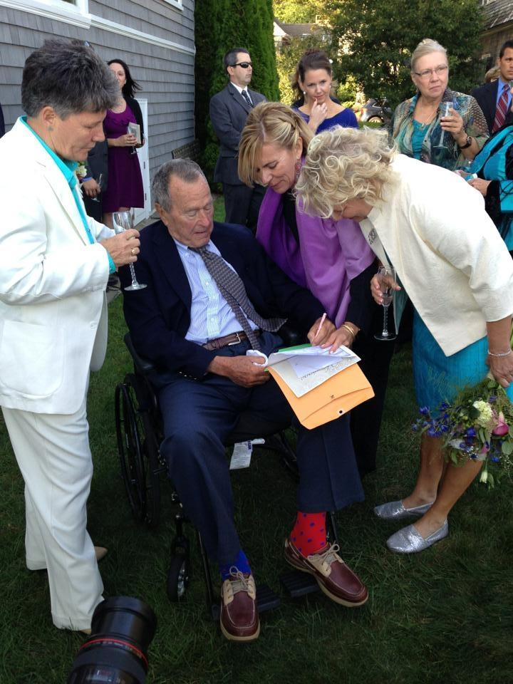 ghwbwedding Former President George H. W. Bush Serves As Official Witness For Same Sex Marriage