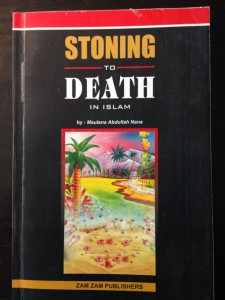 Stoning cover 225x300 Book of the Day: Stoning to Death in Islam