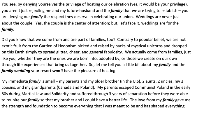 letter2 Denied Request To Host Wedding At Los Cabos Resort, Gay Couple Responds With Beautiful Letter On True Meaning Of Family