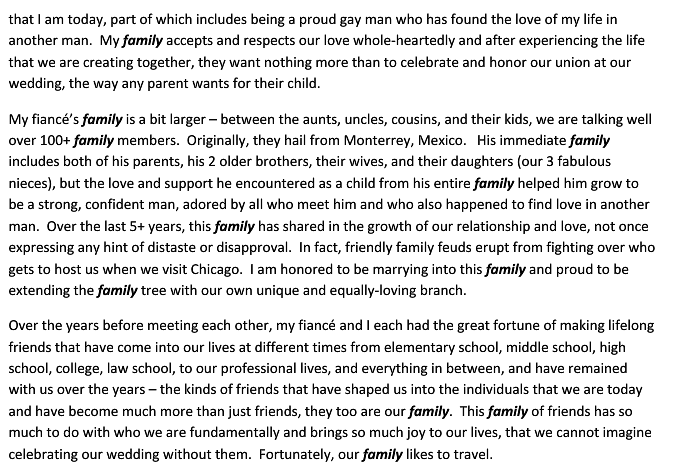letter3 Denied Request To Host Wedding At Los Cabos Resort, Gay Couple Responds With Beautiful Letter On True Meaning Of Family