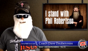 coachdave 300x173 Coach Dave Daubenmire Plays Dress Up In Full Throated Defense Of Duck Dynasty Bigot
