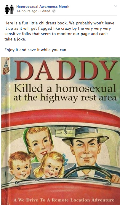 daddykilled Anti Gay Facebook Group Pushes Childrens Book About Killing Gays