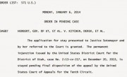 Supreme Court Puts Hold On Utah Marriages