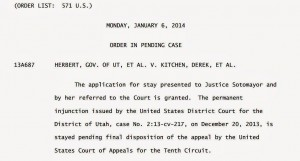 stay 300x161 Supreme Court Puts Hold On Utah Marriages