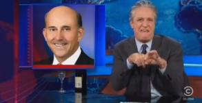 "Jon Stewart, reacting to Louie Gohmert's recent statements about ""plumbing."""