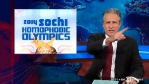 stewartsochi2 300x170 Jon Stewart Covers The Upcoming 2014 Sochi Homophobic Olympics