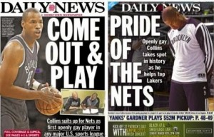 CollinsNYDN3 300x192 History: Jason Collins Signs and Plays For New Jersey Nets