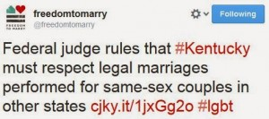 KYmarriage 300x133 Federal Judge Rules Kentucky Must Recognize Out Of State Same Sex Marriages