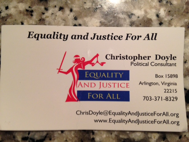 doyle Ex Gay Survivor Meets Chris Doyle and Gets a Business Card For Lobbying Services