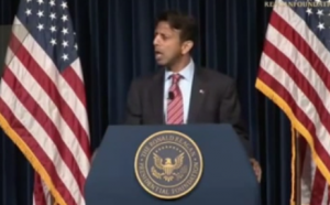 jindal 300x186 Louisiana Governor Bobby Jindal Jumps Aboard The Fake Our Religious Liberty Is Being Attacked! Train