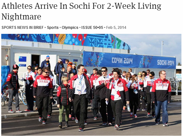 sochi On The Opening Day Of The Olympics, The Last Place I Want To Be Is Sochi