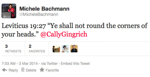 BachmannTweet Envisioning A World Where Fundamentalists Hated Things Besides Gays