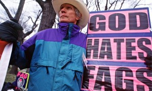 Pastor Fred Phelps pictured in 1998