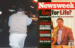 John Paulk in front of gay bar and on the cover of Time Magazine