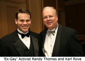 Randy Thomas poses with Karl Rove