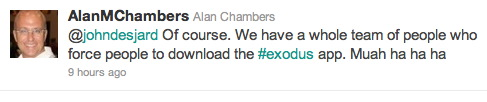 Alan Chambers via Twitter