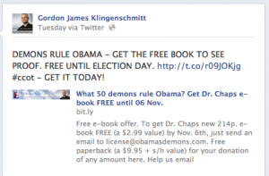 Klingenschmitt says demons rule Obama