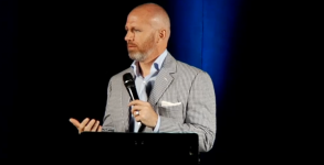 Alan Chambers speaking Wednesday night at the Exodus Freedom Conference in Irvine, California
