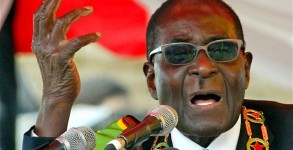 """""""Donkeys all the time on top of each other,"""" said Mugabe. Jekesai Njikizana/Getty Images)"""