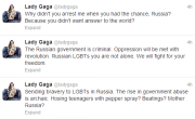 Lady Gaga's Message To Russia: 'Why Didn't You Arrest Me When You Had The Chance?'