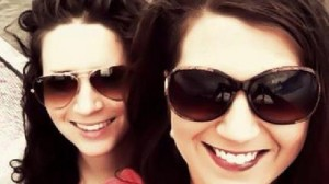 Kat Cooper and her wife, Krista
