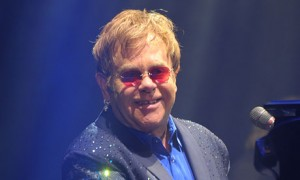 Elton John performing at Bestival.