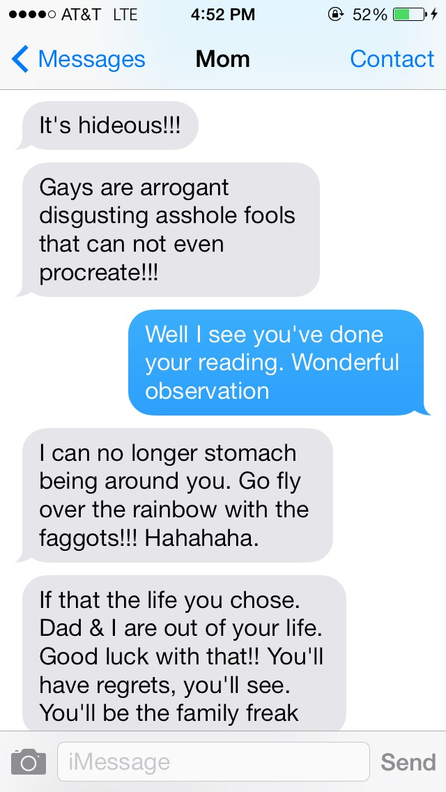 Texts Between (A Homophobic) Mother And (A Gay) Son | Truth