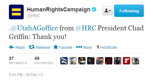 hrctweet Human Rights Campaign Thanks Utah Attorney Generals Office For Being Incompetent
